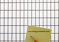 "4 x 4 Inch (in) Opening Size to 3/4 x 3/4 Inch (in) Mesh Galvanized Wire Mesh (1/2""x1""GA.063WD)"