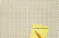 1 x 1 to 10 x 10 Brass Woven Wire Mesh (3BRS.092PL