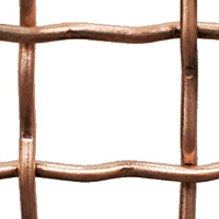 Weave/Crimp Type Intercrimp or Lock Crimp Bronze Woven Wire Mesh