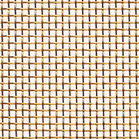 "Bronze Woven Wire Mesh - By Opening Size: From 0.0553"" to 0.0300"""