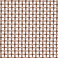 "Copper Woven Wire Mesh - By Opening Size: From 0.0553"" to 0.0300"""