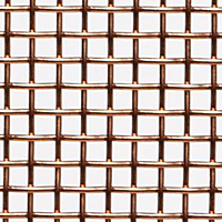 "Copper Woven Wire Mesh - By Opening Size: From 0.215"" to 0.0603"""