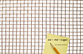 "Copper Wire Mesh - 2 x 2 Mesh, 0.063"" Diameter Wire"