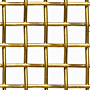 1 x 1 to 10 x 10 Brass Woven Wire Mesh (5BRS.063PL)