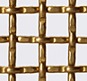 Weave/Crimp Type Intercrimp or Lock Crimp Brass Woven Wire Mesh