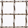"2 x 2 Inch (in) Opening Size to 2 x 2 Aluminum Woven Wire Mesh (3/4""AL.120IN) - 2"